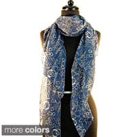 Paris Chains and Links Fashion Scarf