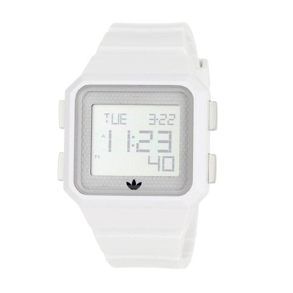 Adidas Men's 'Peachtree' White Polyurethane Digital Watch