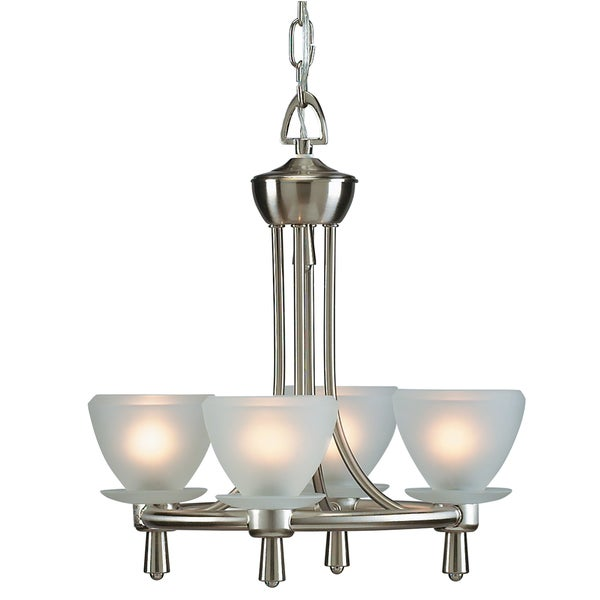 Aztec Lighting Brushed Nickel 4-light Chandelier