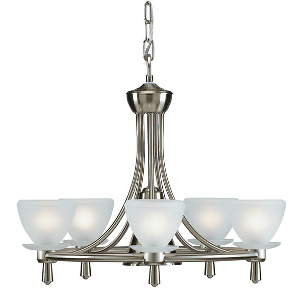 Aztec Lighting Brushed Nickel 6-light Chandelier