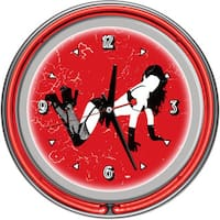 Shadow Babes B Series Two Red Neon Rings Clock