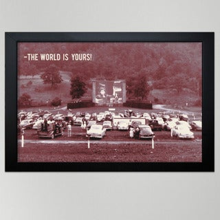 Oliver Gal 'The World is Yours' 30x24-inch Framed Wall Art