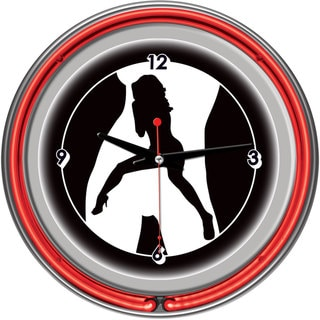 Shadow Babes C Series Red Neon Ring Clock
