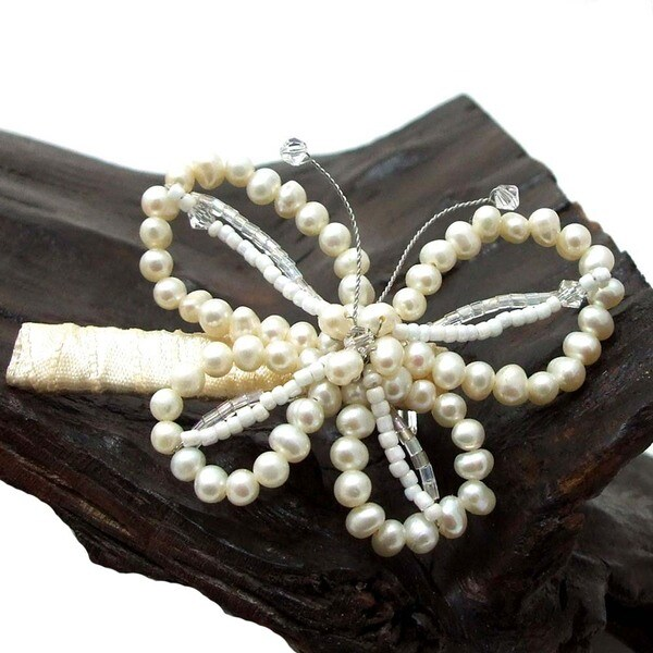 Butterfly Grace Freshwater Pearl Hair Clip (Thailand)