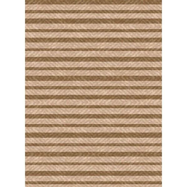 Beige/ Brown Woven Indoor Outdoor Patio Rug (7'10 X 11')