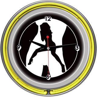 Link to Shadow Babes C Series Clock w/ Two Neon Rings Yellow Similar Items in Billiards & Pool
