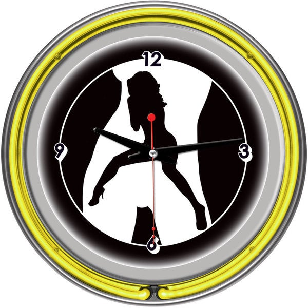 Shadow Babes C Series Clock w/ Two Neon Rings Yellow. Opens flyout.