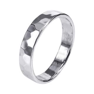 Handmade Sterling Silver Mod Hammered Texture Band Ring (Thailand)|https://ak1.ostkcdn.com/images/products/7708559/7708559/Sterling-Silver-Mod-Hammered-Texture-Band-Ring-Thailand-P15114859.jpg?impolicy=medium