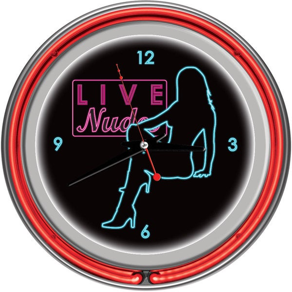 Shadow Babes D Series Two Red Neon Rings Clock