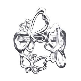 Handmade Sterling Silver Flying Butterfly Family Ring (Thailand)