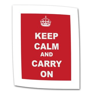 'Keep Calm and Carry On' Flat Canvas