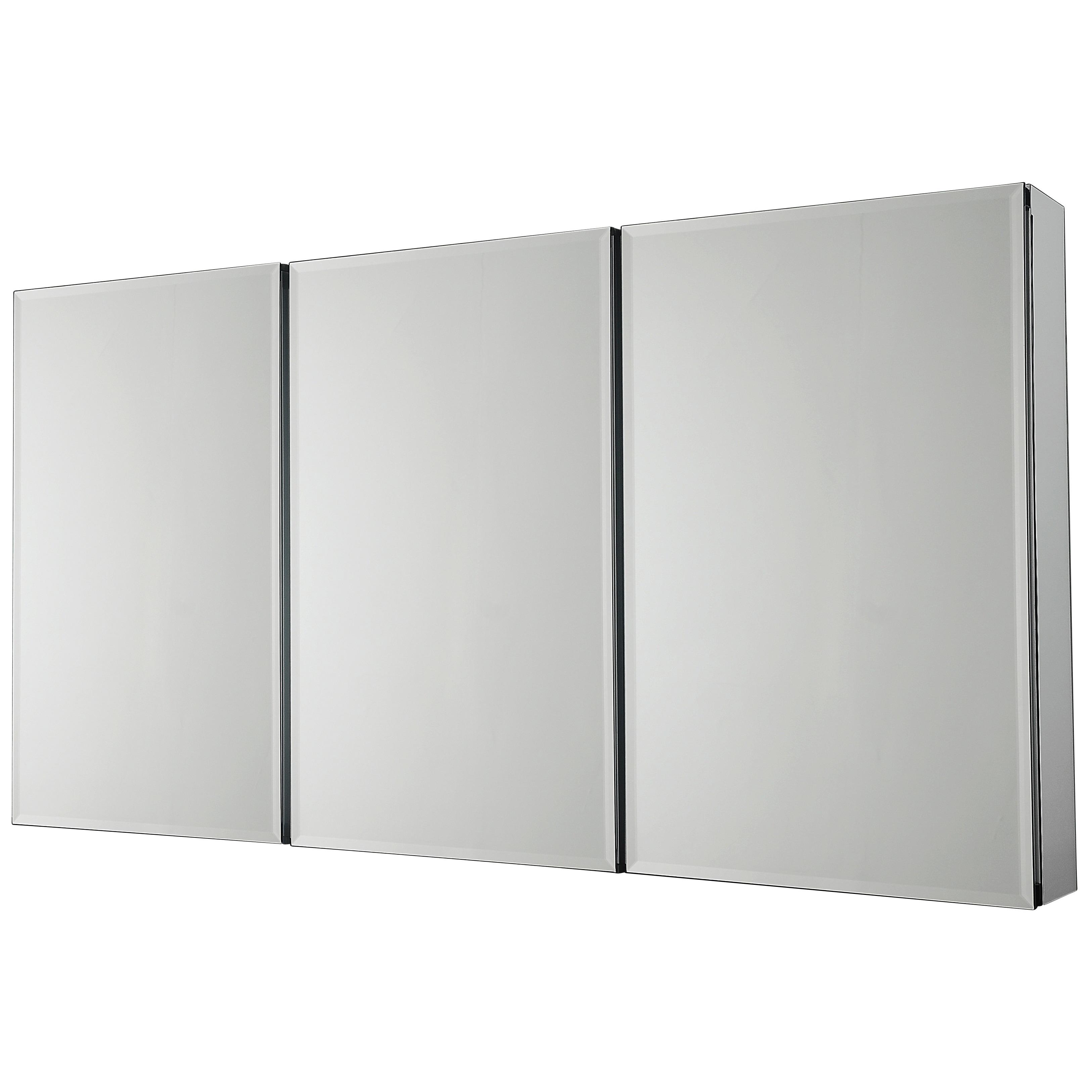 Beveled Mirror 3 Door Medicine Cabinet