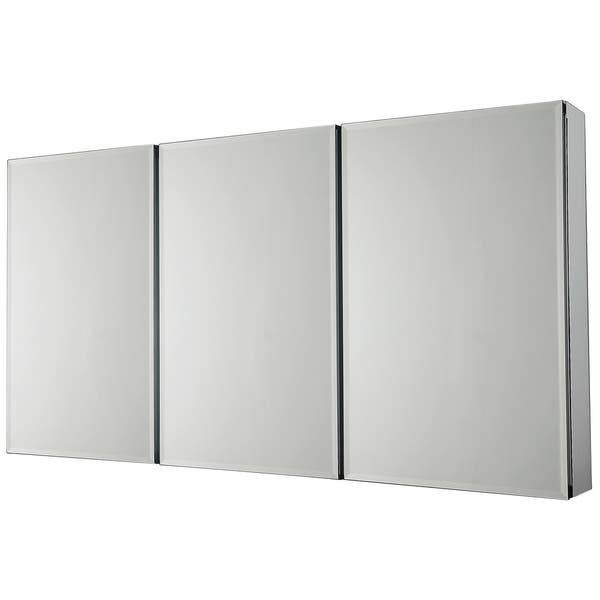 Beveled Mirror 3 Door Medicine Cabinet