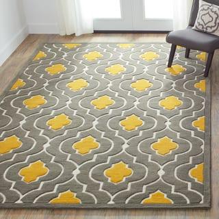 Hand-tufted Logan Grey/ Gold Wool Rug (7'10 x 11'0) https://ak1.ostkcdn.com/images/products/7708697/P15114936.jpg?impolicy=medium