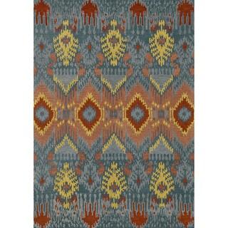 Hand-tufted Arianna Blue Wool Rug (7'10 x 11'0)