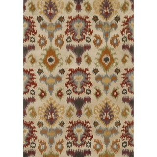 Hand-tufted Arianna Ivory/ Multi Wool Rug (5'0 x 7'6)