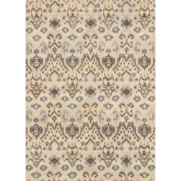 Hand-tufted Arianna Cream/ Grey Wool Rug (3'6 x 5'6)