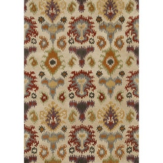 Hand-tufted Arianna Ivory/ Multi Wool Rug (3'6 x 5'6)