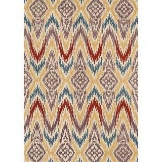 Hand-tufted Arianna Ivory/ Light Gold Wool Rug (5'0 x 7'6)