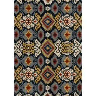 Hand-tufted Arianna Midnight Wool Rug (5'0 x 7'6)