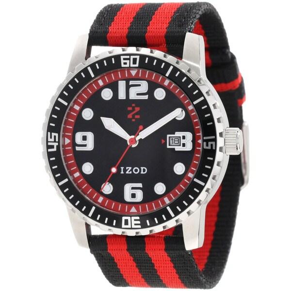Izod Men's 'IZS3/9.Red' Red Nylon Quartz Red Dial Watch