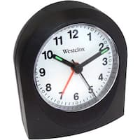 Westclox Black Bedside or Travel Analog Alarm Clock