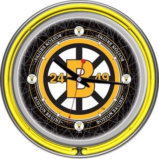 NHL Vintage Boston Bruins Neon Clock 14 inch Diameter
