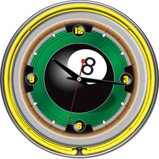 Rack'em 8 Ball 14-inch Neon Wall Clock|https://ak1.ostkcdn.com/images/products/7709076/7709076/Rackem-8-Ball-14-inch-Neon-Wall-Clock-P15115302.jpg?impolicy=medium