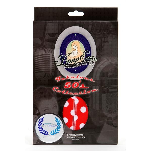 PumpEase Red T-bird Pattern Hands-free Pumping Nursing Bra