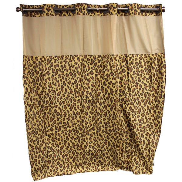 Shop Hookless Leopard Shower Curtain