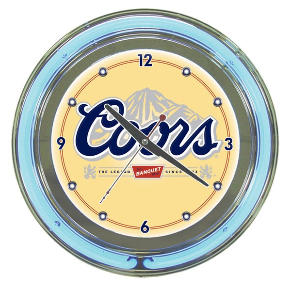 Coors Banquet 14-inch Neon Wall Clock
