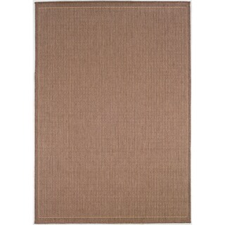 Recife Saddle Stitch Cocoa Rug (3'9 x 5'5)