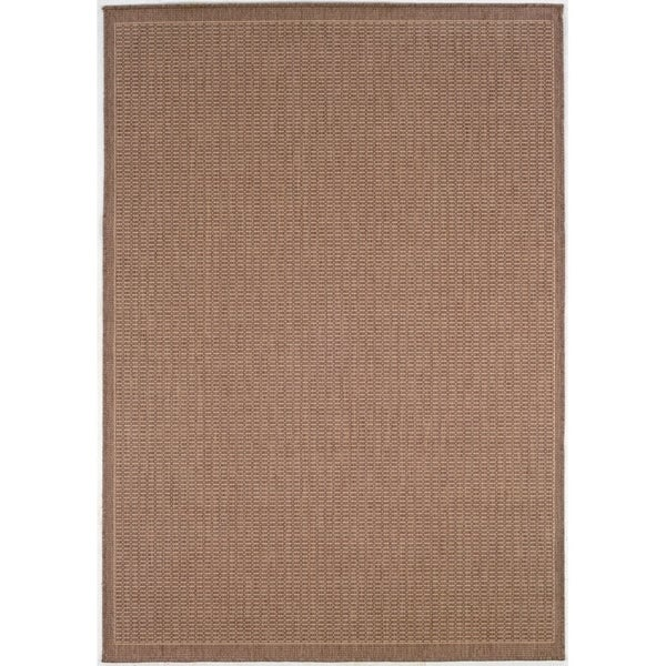 Pergola Deco Cocoa-Natural Indoor/Outdoor Area Rug - 3'9 x 5'5