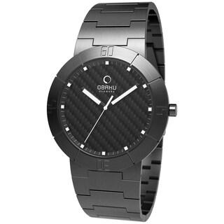 Obaku Men's V140LBBSB Black Stainless-Steel Black Dial Quartz Watch