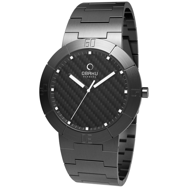 Obaku Men's V140LBBSB Black Stainless-Steel Black Dial Quartz Watch