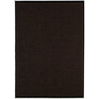 Recife Saddle Stitch Black Rug (5'10 x 9'2)