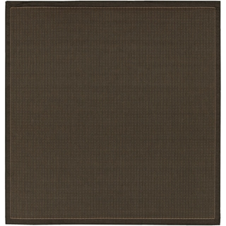 Recife Saddle Stitch Black Rug (7'6 Square)