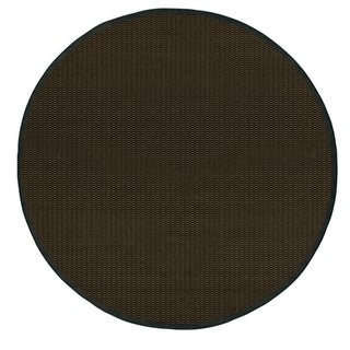 Recife Saddle Stitch Black Rug (8'6 Round)
