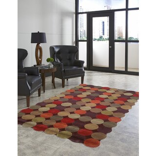 Ring Toss Multicolored Geometric Indoor Rug (7'6 x 9'6)