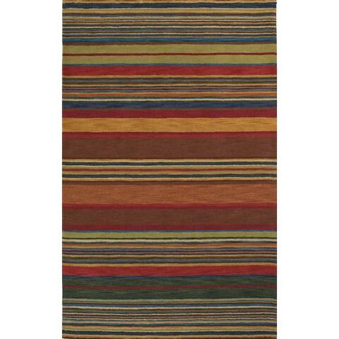 Liora Manne Stripes Indoor Wool Rug (8' x 10') - 8' x 10'