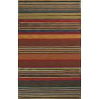 Stripes Indoor Wool Rug (8' x 10') - 8' x 10'