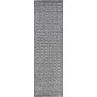 "Recife Saddle Stitch Grey Runner Rug (2'3 x 11'9) - 2'3"" x 11'9"" runner"