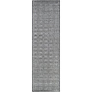 "Pergola Deco Grey-White Indoor/ Outdoor Runner Rug - 2'3"" x 11'9"" Runner"