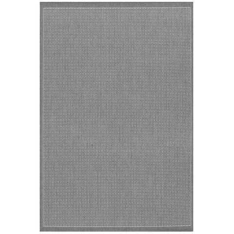 """Pergola Deco Grey-White Indoor/ Outdoor Runner Rug - 2'3"""" x 7'10"""" Runner"""