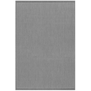 Power-Loomed Pergola Deco Grey/White Polypropylene Rug (3'9 x 5'5)