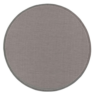 Power-Loomed Pergola Deco Grey/White Polypropylene Rug (8'6 Round)