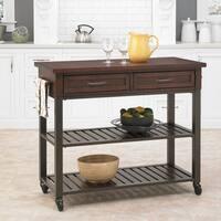 Carbon Loft Evans Chestnut Kitchen Cart