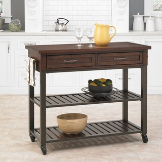 Carbon Loft Evans Chestnut Kitchen Cart
