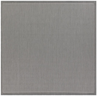 Recife Saddle Stitch Grey Rug (8'6 Square)