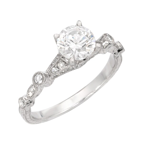 14k White Gold 1/5ct TDW Diamond Vintage-inspired Ring (G, SI1)